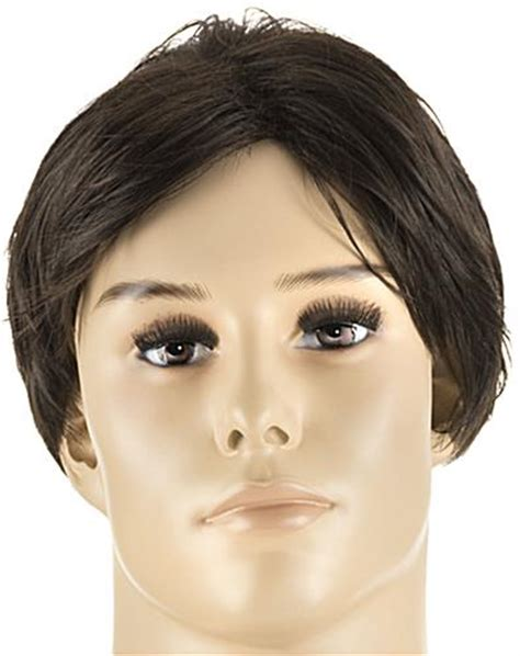 male fashion mannequin wigs wigs for realistic male realistic male mannequin with brown wig tempered glass base