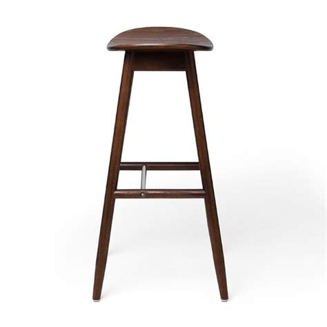 beech bar stools massproductions icha bar stool walnut stained beech