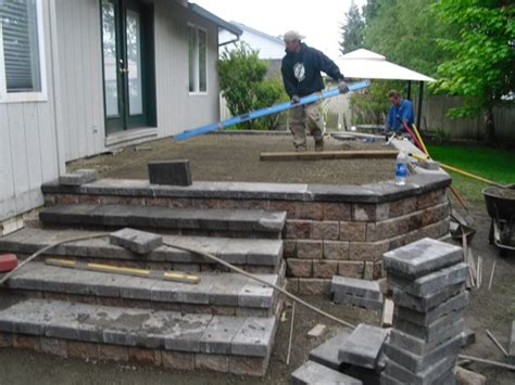 How To Build A Raised Paver Patio Jody 5 10 Boulder Falls Landscaping Service Landscape Construction And Maintenane In