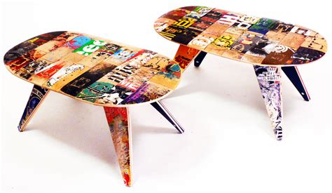 recycled skateboard coffee table the awesomer
