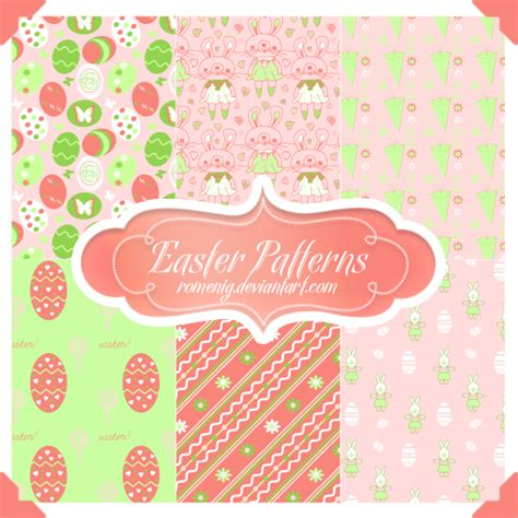 pattern cute photoshop cute easter seamless patterns by romenig on deviantart