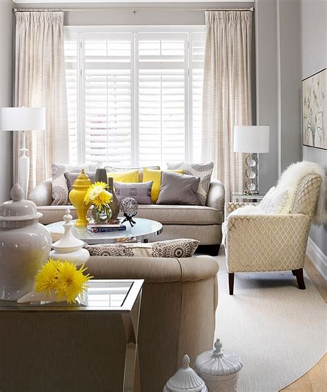idea accents gray and yellow living rooms photos ideas and inspirations