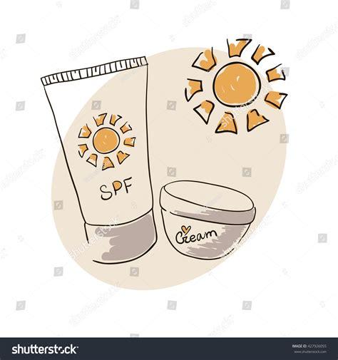doodle draw unblocked doodle image sunblock skin stock vector