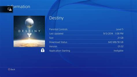 Update Files Destiny Ps4 Murah destiny available for pre load on playstation 4 size 21 gb only