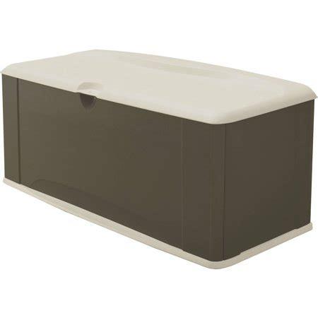 rubbermaid deck storage rubbermaid 121 gallon deck box with seat walmart com