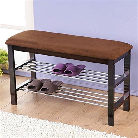 espresso shoe bench roundhill furniture dark espresso wood shoe bench with