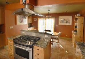 kitchen island with gas stove islands top and oven home design ideas