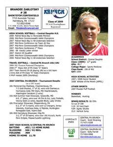 Sports Profile Template softball team profile templates player profile central