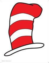 dr seuss hat template free printable cat in the hat quot hat quot in either color or