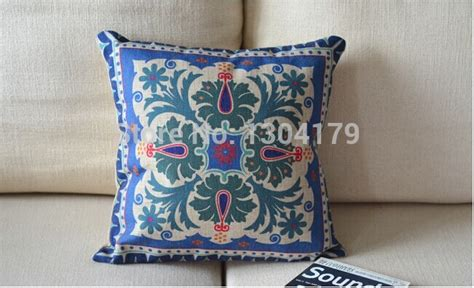 Sarung Bantal Cushion Cover Pattern 021 pretty ethnic style fancy cushion cover linen nostalgia pattern sofa cushion pillow cover