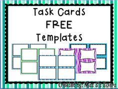 Task Card Template Ppt by 1000 Images About Task Cards On Task Cards