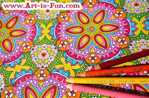 Abstract Patterns Coloring Pages Art Is Fun