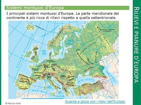 d europa 1 l europa e l italia confini coste rilievi e pianure