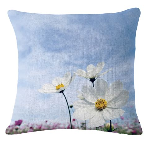 Decorative Tapestry Small Flower Pattern Throw Pillow Case Decorative Cushion