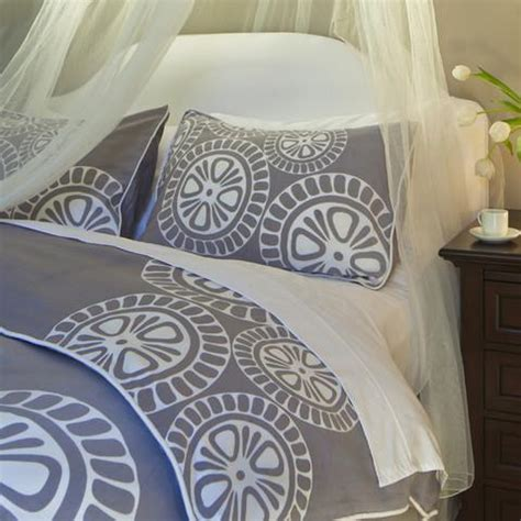 grey patterned bedspreads gray patterned duvet cover by crane canopy