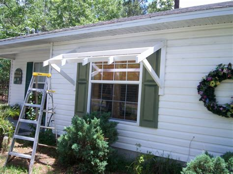 homemade door awning yawning over your awning diy awnings on the cheap home
