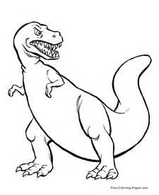 tyrannosaurus dinosaur coloring