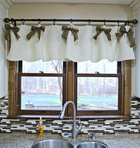 easy affordable diy kitchen window valances head to