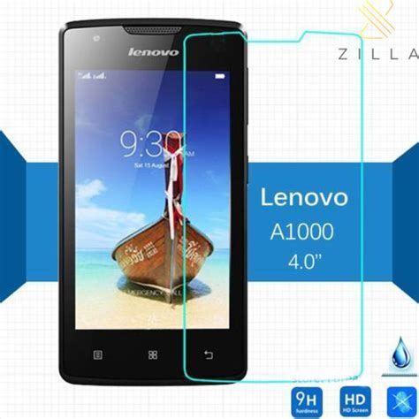 Lenovo A1000 Tempered Glass Screen Protector 9h zilla 2 5d tempered glass curved edge 9h 0 26mm for lenovo