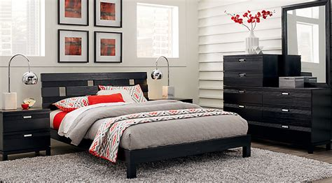 Platform Bedroom Sets King by Gardenia Black 5 Pc King Platform Bedroom King Bedroom