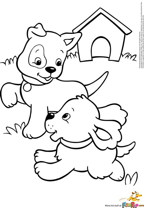 free coloring pages of puppy