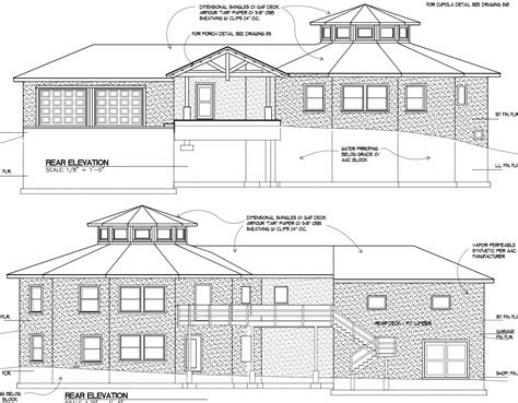 home plan drawings elevation building plans 81487