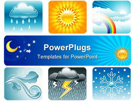 weather templates for powerpoint set of weather and climate vector illustration layered
