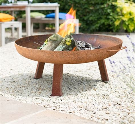 Large Industrial Style Steel Firepit By Oxford Barbecues Large Firepits