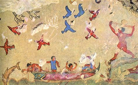 Greek Wall Murals hunting and fishing tarquinia tomb of the hunting and