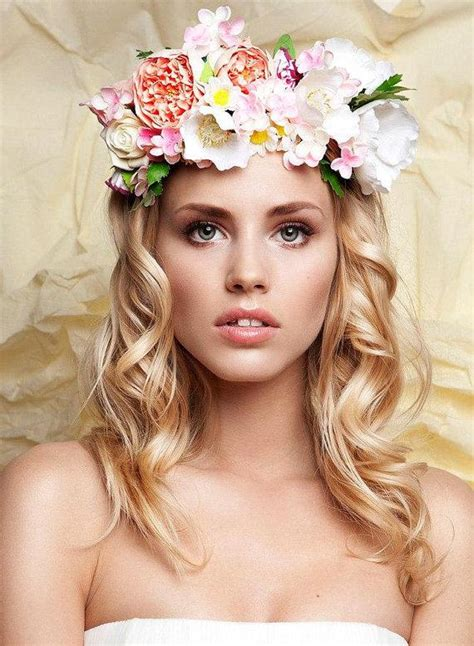Bridal Floral Wreath Handmade Flower Crown Headband