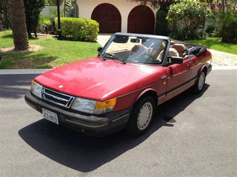 saab convertible red buy used 1987 saab 900 turbo convertible in miami beach