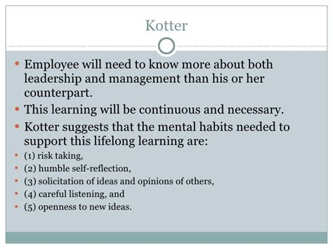 kotter suggests that leadership and management leading change presentation hay