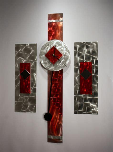 Wall Decor Sculpture by Metal Wall Sculpture Pendulum Clock Modern Abstract