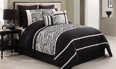 zebra comforter set king 8 piece zebra print comforter groupon goods