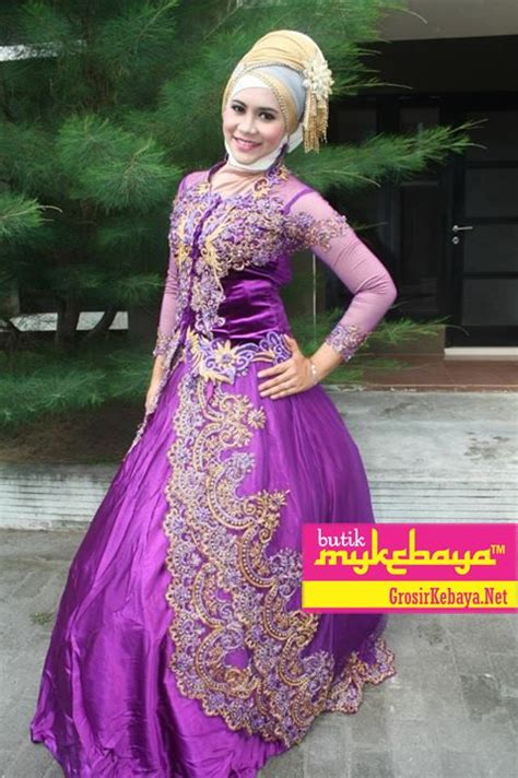 Baju Muslim Gaun Batik Syari Navy baju kebaya pesta gaun kebaya pesta kebaya dress pesta