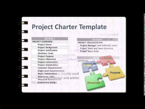 Project Charter Template Walkthrough V1 Youtube Project Charter Template For Website Development