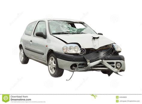 wrecked car wrecked car accident stock image cartoondealer com 44946829