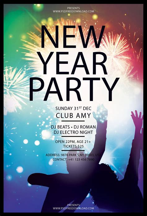 new year poster psd new year flyer free template psd psd free