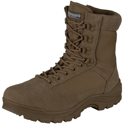 zip boots mil tec tactical side zip boots brown boots 1st