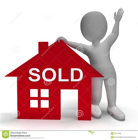 house meaning sold house means successful offer on real estate royalty