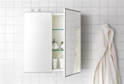 bathroom mirror with shelf home