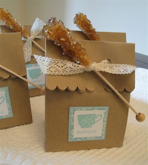 dinner party gifts tea with a rock candy stirrer favors gift ideas