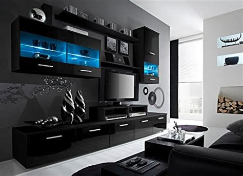 Living Room Led Tv Wall Unit Designs Contemporary Design Wall Unit Modern Entertainment