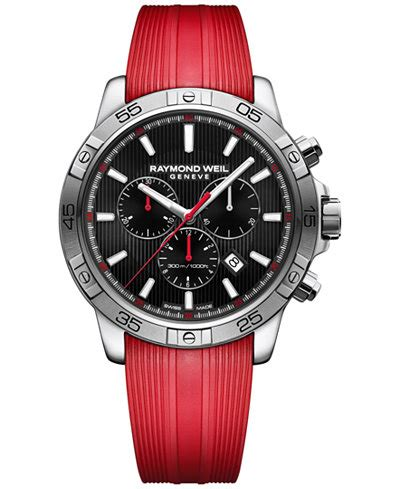 accent rubber sts raymond weil watches stylish daily