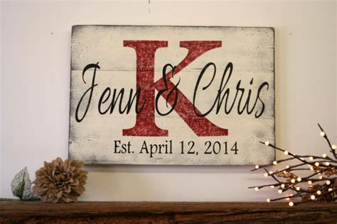 Handmade Name Signs - personalized name sign custom name sign wedding gift bridal