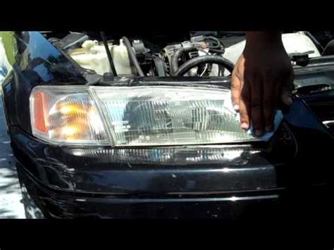 1999 toyota camry headlight how to clean 1999 toyota camry headlights mothers
