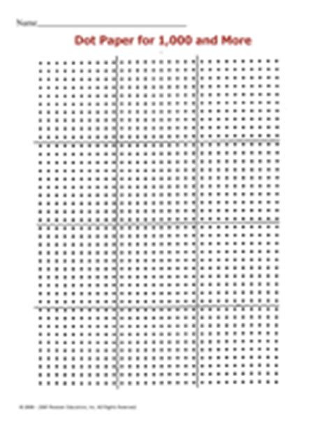 printable dot array paper dot paper for 1 000 and more printable 1st 12th grade