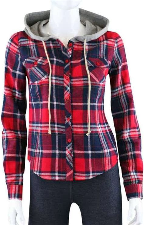 Flanel Dress Blue 1 lovely plaid flannel hooded shirt fashion you can do it 2