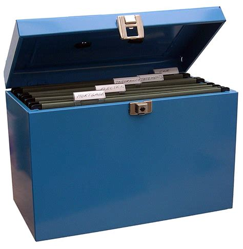 Metal Document Storage Boxes Metal File Storage Box A4 Lockable With Suspension Files