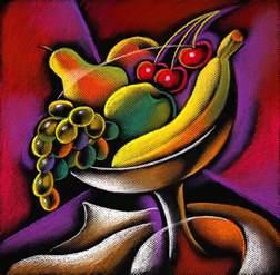 Pop Art Duvet Cover Fruits Painting By Leon Zernitsky